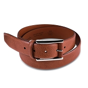 Pineider Country Leather Belt with Square Buckle
