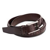 Pineider 1774 Leather Inlay Braided Belt
