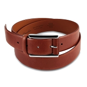 Pineider Power Elegance Leather Belt with Square Buckle