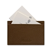Pineider City Chic Leather Flat Business Card Holder with Slots