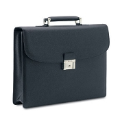 Pineider City Chic Veau Graine Calf Leather Briefcase - Single Gusset