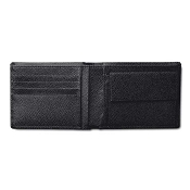 Pineider City Chic Men's Bifold Leather Wallet with Coin Pocket