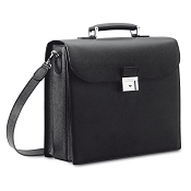 Pineider City Chic Luxury Leather Laptop Briefcase Bag
