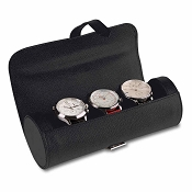 Pineider City Chic Leather Watch Roll Travel Case
