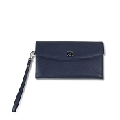 Pineider City Chic Leather Pochette Purse Bag
