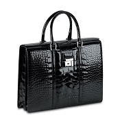 Pineider City Chic Alligator Ladies Briefcase-2 Gusset-Limited Edition