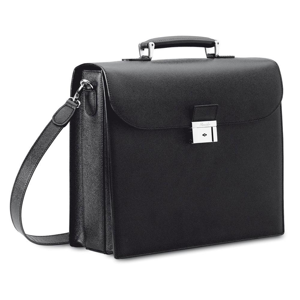 Pineider City Chic Luxury Leather Laptop Briefcase Bag For Men Women