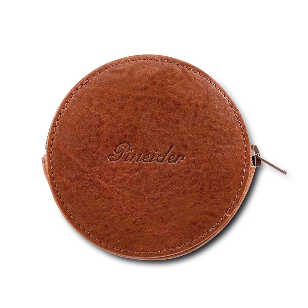 Pineider Country Leather Zip-Around Coin Pocket