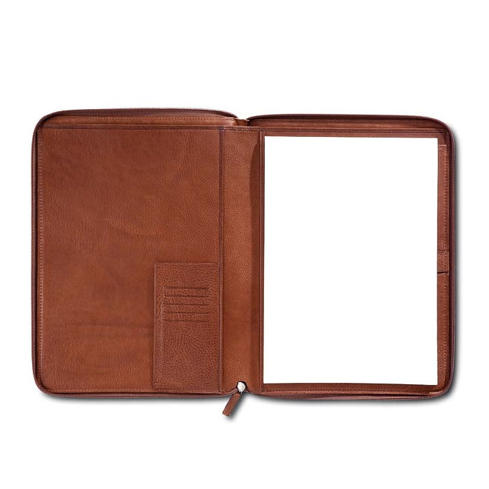 Pineider Country Leather A4 Notepad Holder Case with Zip Around