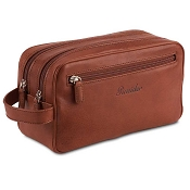 Pineider Country Leather Beauty Case with 2 Zips