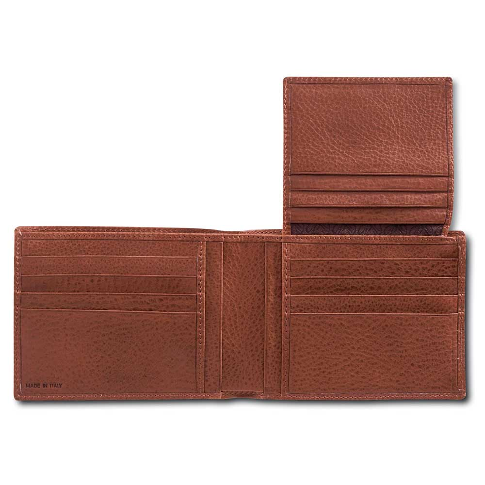 Pineider Country Leather Men's Wallet - Extra Credit Card Slot Flap