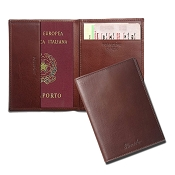 Pineider Country Leather Passport Holder Case