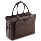 Pineider Country Ostrich Women's Briefcase - Limited Edition