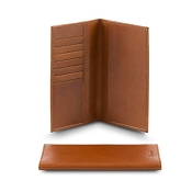 Pineider Country Cognac Leather International Wallet with Calendar/Diary