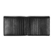 Pineider Country Black Leather Bi-Fold Wallet - 12 Credit Card
