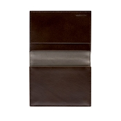Pineider Fall Edition Leather Business Card Wallet Holder with Flap