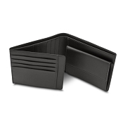 Pineider Milano Leather Bifold Coin Pocket Wallet - Credit Card Flap