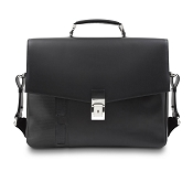 Pineider Milano 2012 Leather Satchel Briefcase - Single Gusset
