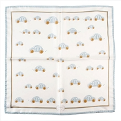Pineider Baby Silk Bandana Scarf - Light Blue