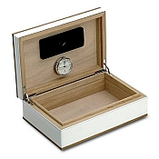 Pineider Boites: Cigar Humidor - Wood and Leather