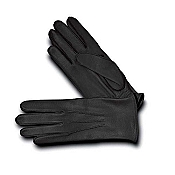 Pineider Men's Leather Gloves - Black Deerskin