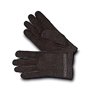 Pineider Men's Leather Gloves - Ebony Carpinchos - Cashmere Lined