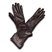 Pineider Women's Leather Gloves - Brown Long Nappa