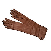 Pineider Women's Leather Gloves - Mink Long Nappa