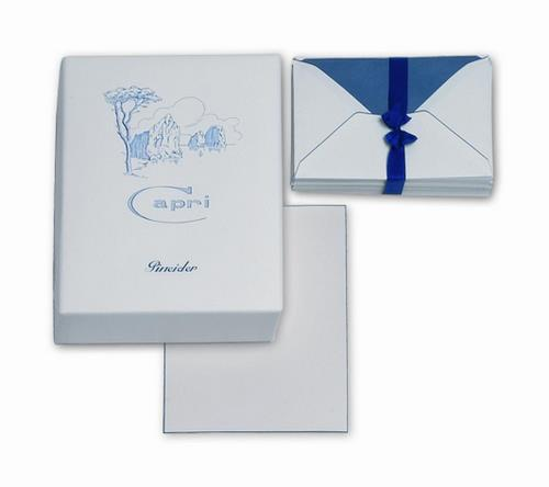 Pineider Capri Stationery - Box of 50 Sheets + 50 Envelopes - Personal