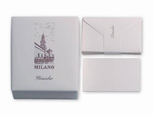 Pineider Milano Stationery - Box of 25 Cards + 25 Envelopes - Form 9