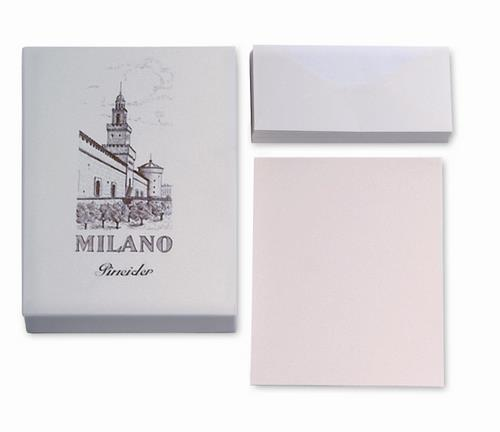 Pineider Milano Stationery - Box of 50 Sheets + 50 Envelopes - Form A4