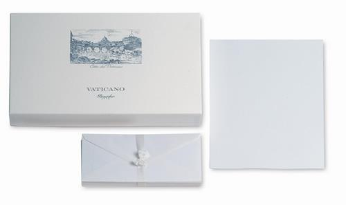Pineider Vaticano Stationery Box - 50 Sheets + 50 Envelopes - Form A4