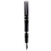 Pineider 1949 Fountain Pen - Black Methacrylate