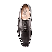 Pineider Men's Leather Shoes - Black Polished Oxford
