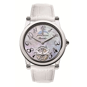 Pineider Automatic Ladies Watch - White Leather Strap