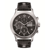 Pineider Automatic Chronograph Men's Watch with Date - Black Dial