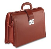 Pineider Power Elegance Leather Diplomatic Luxury Briefcase Bag