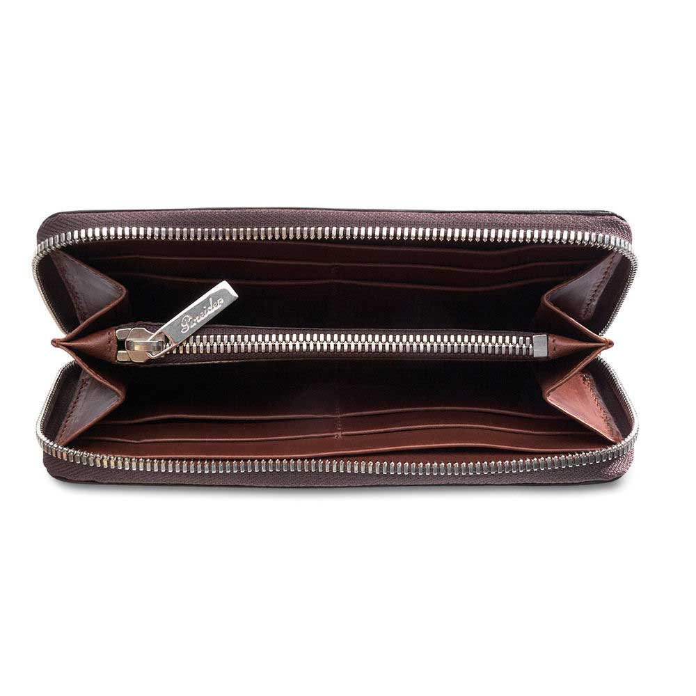 Pineider Power Elegance Leather Women's Wallet with Zip Around
