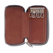 Pineider Power Elegance Leather Key Holder with Zip Around