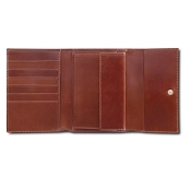 Pineider Power Elegance Leather Women's Wallet with Flap