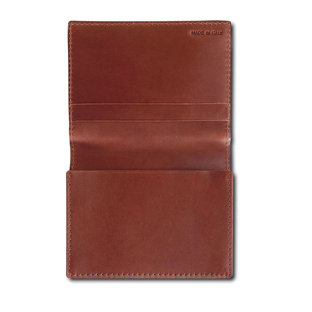 Pineider Power Elegance Leather Business Card Wallet Holder With