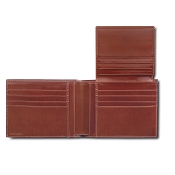 Pineider Power Elegance Men's Leather Bifold Credit Card Wallet