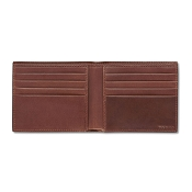 Pineider Power Elegance Luxury Leather Men's Bifold Wallet - Small