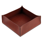 Pineider Power Elegance Leather Valet Tray - Square - Large