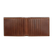 Pineider Power Elegance Leather Men's Bi-Fold 12 Credit Card Wallet