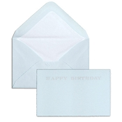 Pineider Hand-Engraved Happy Birthday Cards - Light Blue