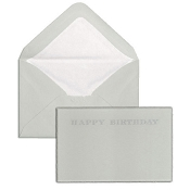 Pineider Hand-Engraved Happy Birthday Cards - Grey