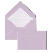 Pineider Hand-Engraved Thank You Cards - Lilac-White