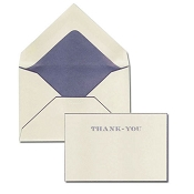 Pineider Hand-Engraved Thank You Cards - Grey-Blue