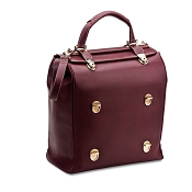 Pineider Tri-bag Leather Handbag